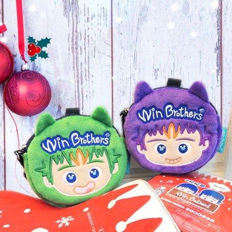 聖誕禮物二允兄弟手拿包-特惠對組 winbrothers coin wallet doll (MAX'S SET)
