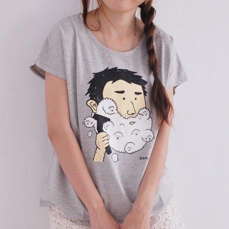泡泡羊刮鬍泡T-shirt