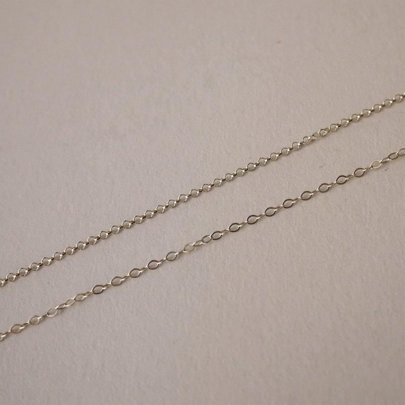 925純銀16吋成鍊 / 單鏈 / 可選購自行搭配墜飾