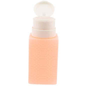 200ミリリットルネイルアートのヒント空ディスペンサーアクリルリムーバーポンプボトル - オレンジ