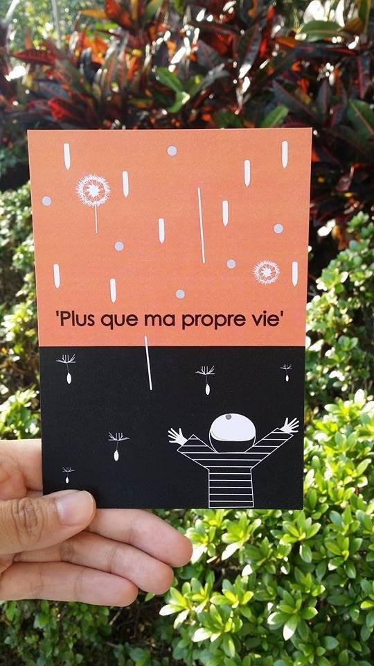 比我更重要的你 法文卡片 - plus que ma propre vie
