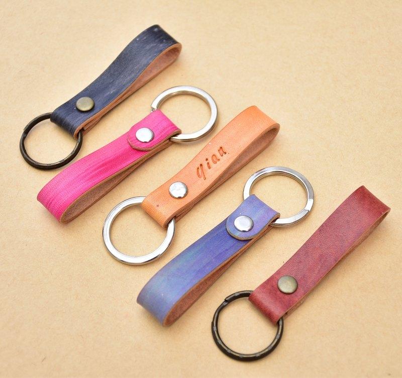 1+1皮革手工鑰匙圈 X 免費刻字 X  免費包裝