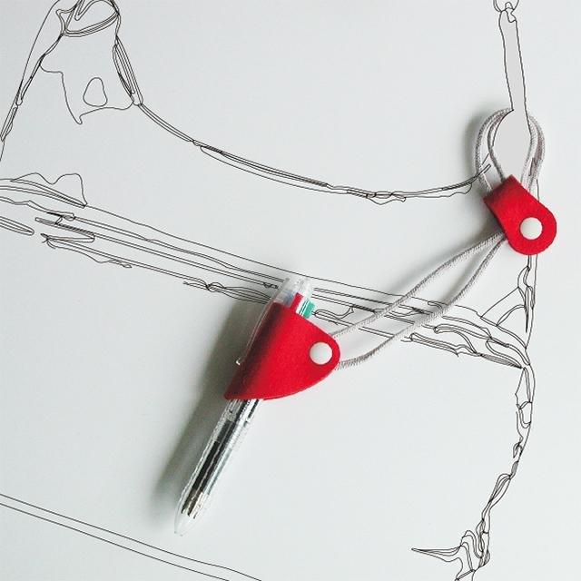 筆架與錶帶紅色