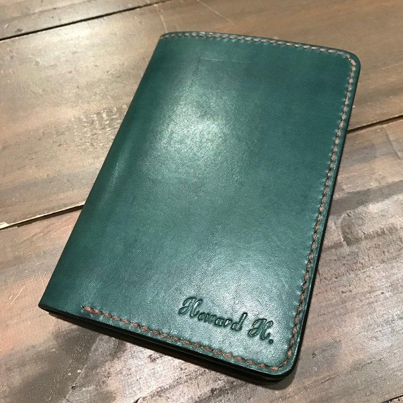 純手工製作手工染色皮革中夾,護照夾 (免費印字,繡字)