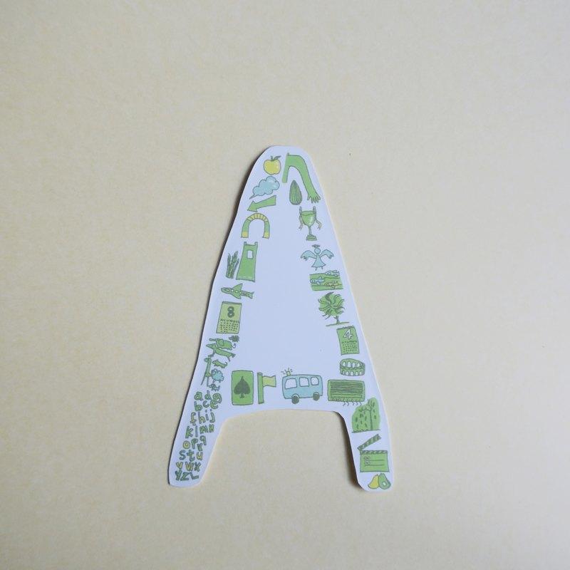 英文字母貼紙A-E