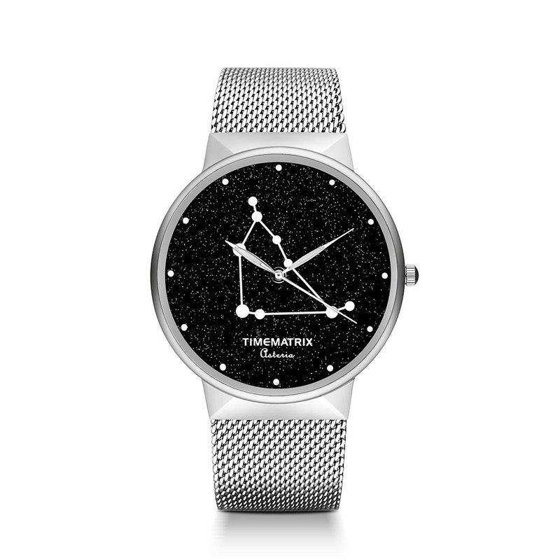 【丹麥星彩寶石】摩羯座 Time Matrix 星座創意時尚男女石英手錶