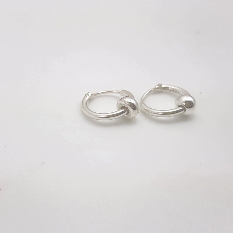 E13款-925純銀小耳環(1對)