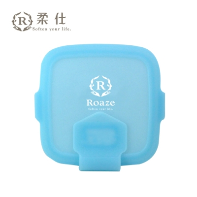 Roaze 柔仕 專利矽膠抽取盒 + 乾濕兩用布巾(20片) - 艾莎藍