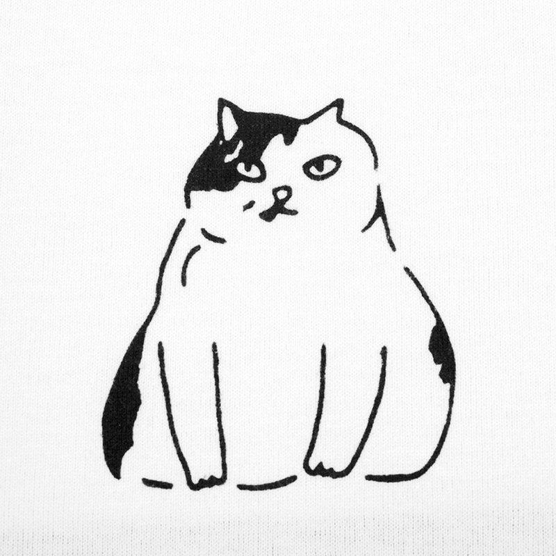 坐著看不到腳的貓咪撞色長版上衣/洋裝/貓奴