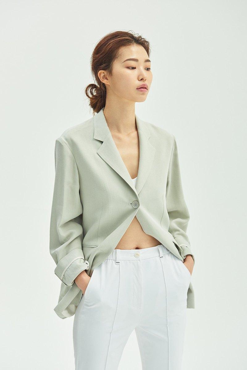 經典輕質西裝夾克/ 燕麥綠