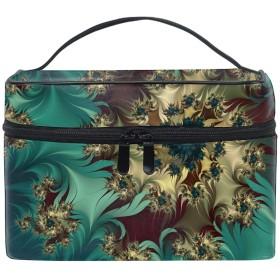 フラクタルの花のつぼみコスメバッグ 化粧ポーチ メイクバッグ ギフトプレゼント用 携帯可能