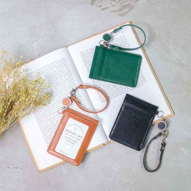 都會時尚 捲繩式真皮證件套 Made in Japan by FOLNA