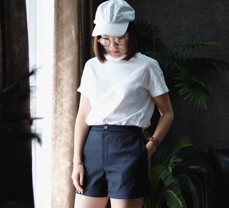 Basic 基本款棉質短褲 海軍藍色 S/M