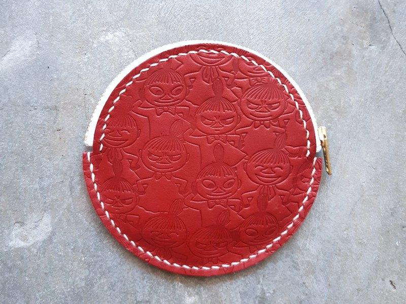 MOOMINx港產皮革 阿美圓形零錢包 材料包 好好縫 正式授權 小不點