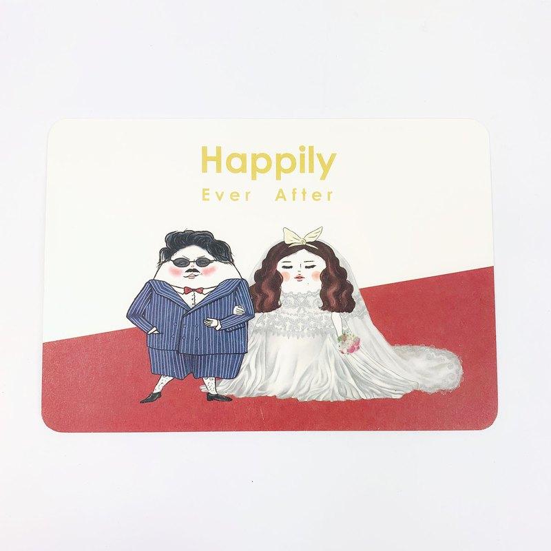 明信片 結婚賀卡 永遠幸福快樂