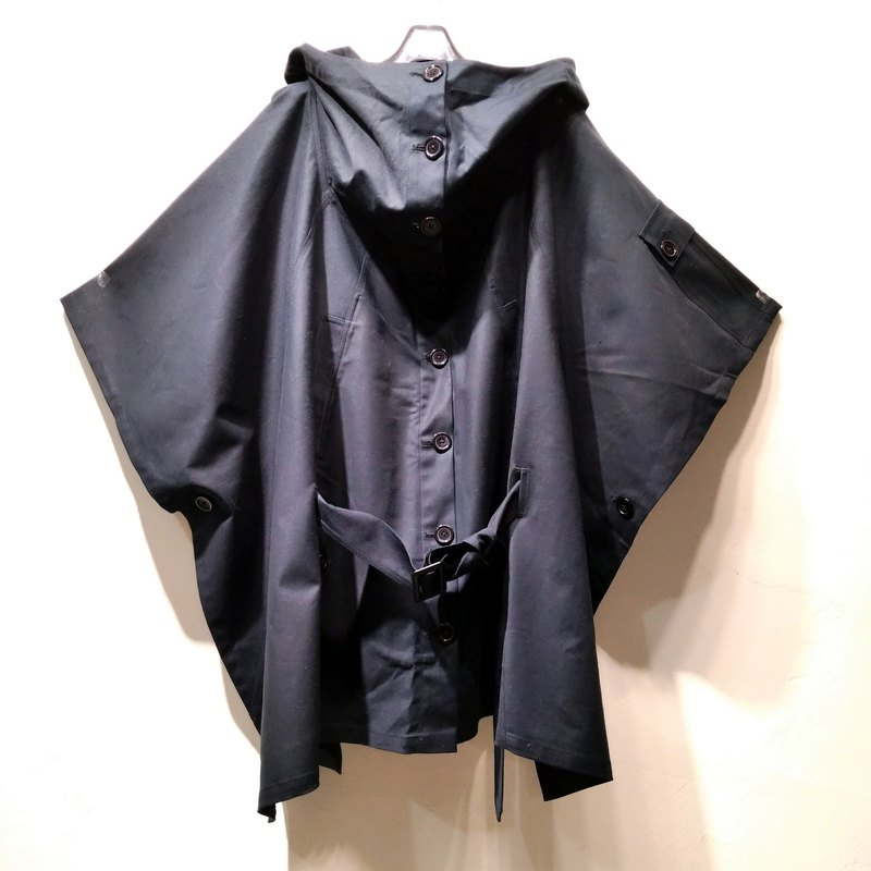 中性黑色寬鬆斗篷 Ray77 Galaxy