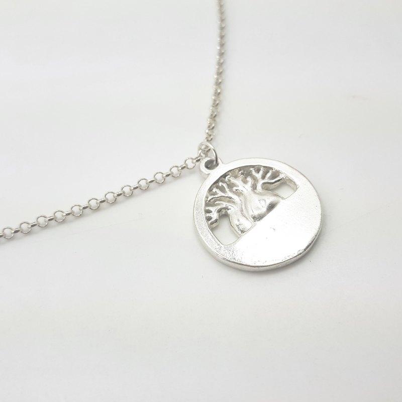 S19款生命樹-御匠學員作品-925純銀項鍊-可敲字飾品