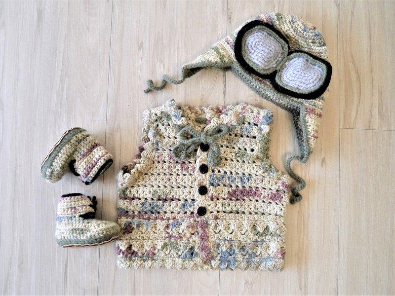 手作編織寶寶彌月禮盒組(亦可整組購買有優惠喔)
