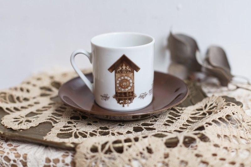 【好日戀物】4德國vintage復古古董鐘紀念咖啡杯組