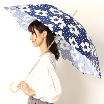エスタ(estaa)/雨傘(長傘)【手開き/UVケア】花柄スタンプ(婦人/レディース)