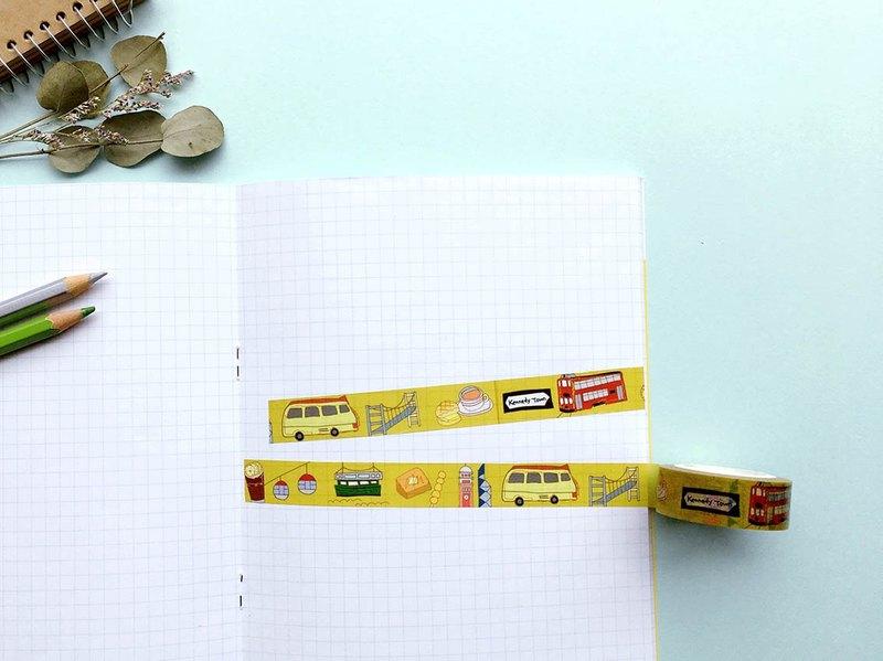 Follow you 個人原創香港旅行手繪紙膠帶1.5cm