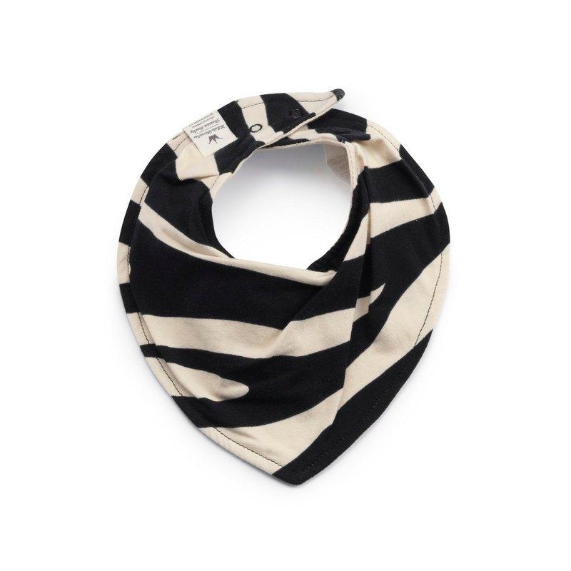 【瑞典ELODIE DETAILS】有機棉口水巾 - Zebra Sunshine 炫斑馬