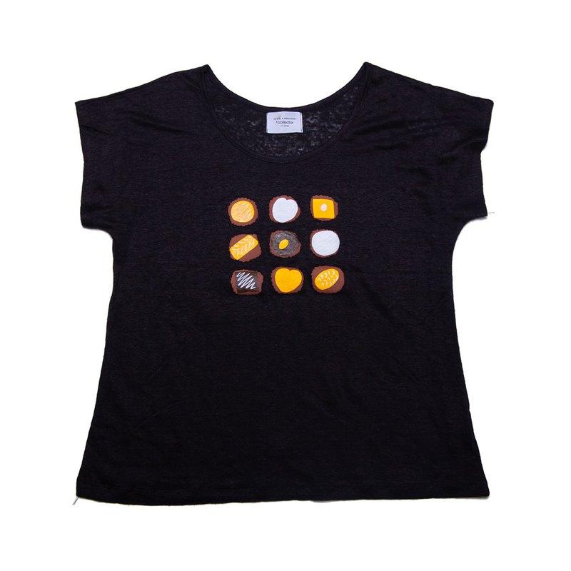 我們的店鋪原創於全身。 Chocolate Linen Sarasara T卹女裝Free Size Tcollector