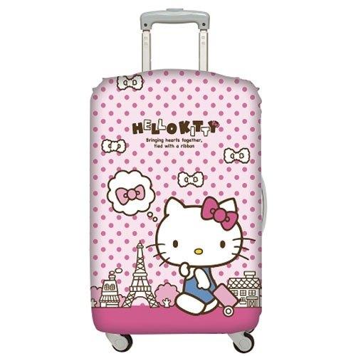 LOQI 行李箱外套│Hello Kitty 巴黎鐵塔M號