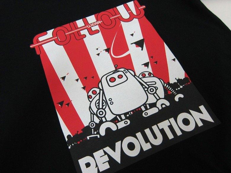 【 Followwear 】Revolution 好麻吉 機器人 T恤 黑色 男 / 女