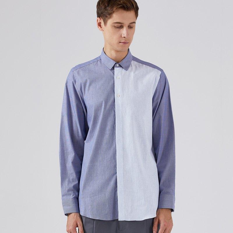 拼布寬鬆襯衫