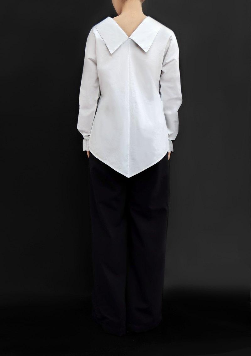 寬口寬鬆褲/意大利純羊毛100%/日本製造