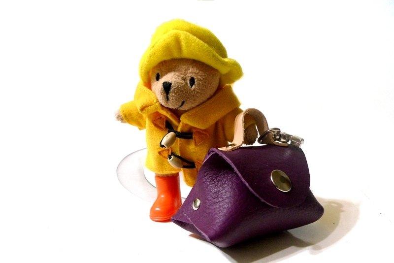 大包小包小熊旅行零錢包-紫