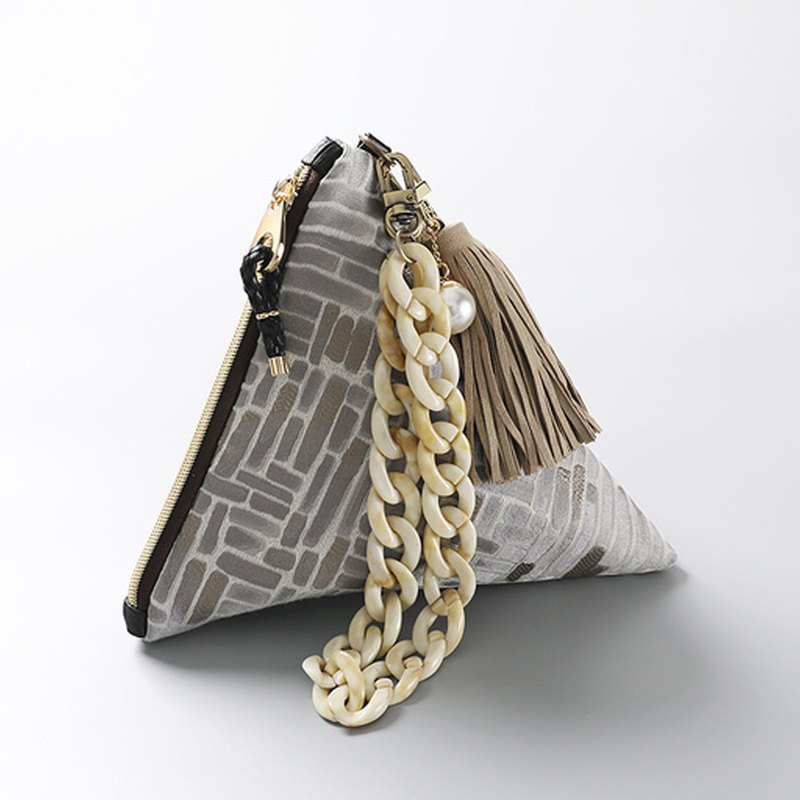 Romantic brick triangular clutch pouch bag
