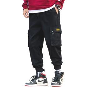 BLFGNCOB カーゴパンツ メンズ 大きいサイズ ウェストゴム 裾テープ ゆったり カジュアル リラックス 旅行 ストリート スポーツ 綿 オールシーズン