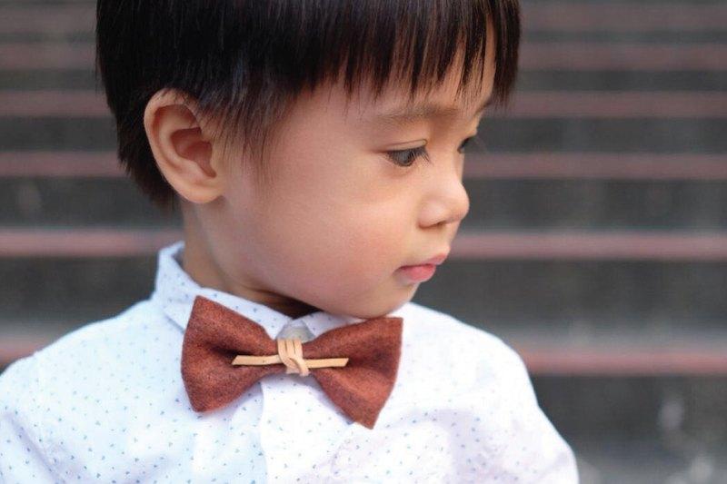 煲呔 Bowtie 領結 領帶 伴郎禮 皮革 復古風 毛氈布