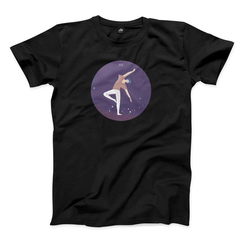 惡魔 - 黑 - 中性版T恤
