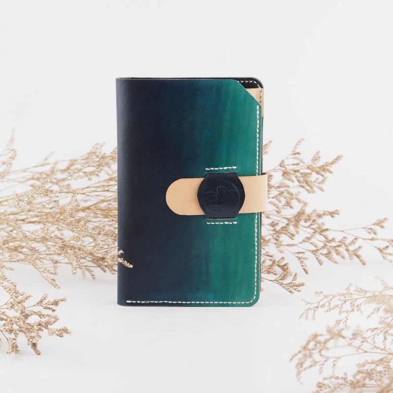 皮革護照套 個性旅行 深藍漸層色