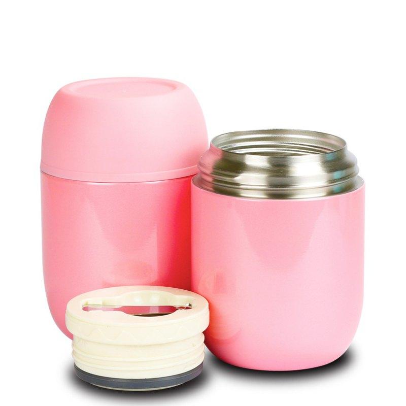 Jaro 不鏽鋼真空保溫杯附不銹鋼湯匙-520c.c-粉紅