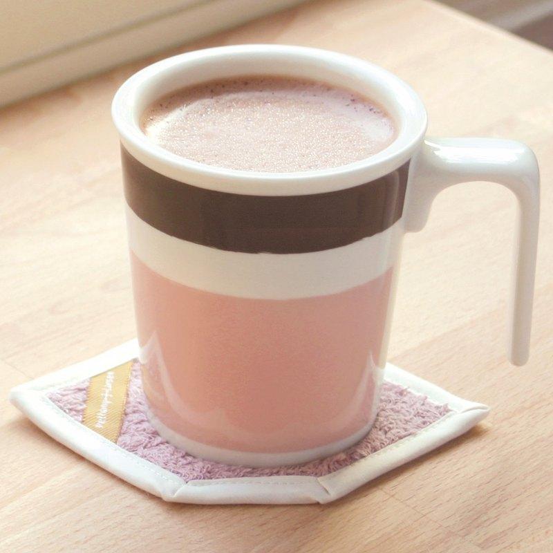 【辦公桌必備】可可亞-親親馬克杯+純棉吸水杯墊 禮盒/ 可加購蓋