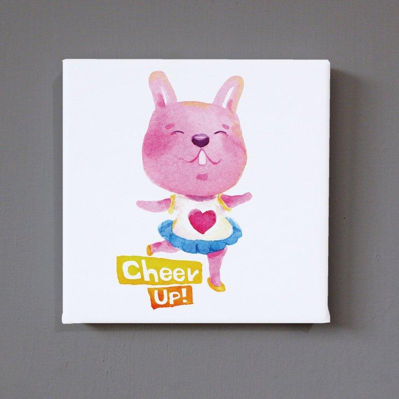 加油小兔兔 無框畫 複製畫 動物