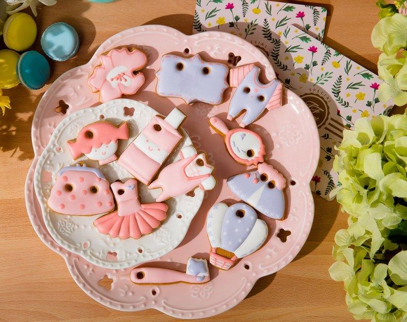 『粉粉小清新』 (12片 mini size) 收涎餅乾 糖霜餅乾 寶寶禮盒