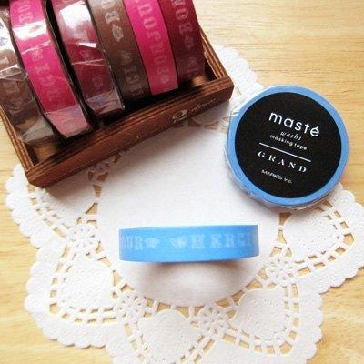 maste Masking Tape 和紙膠帶【Bonjour-藍 (MSG-MKT12-BL)】