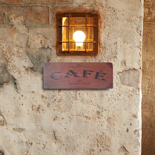 復古標示-CAFÉ-棕