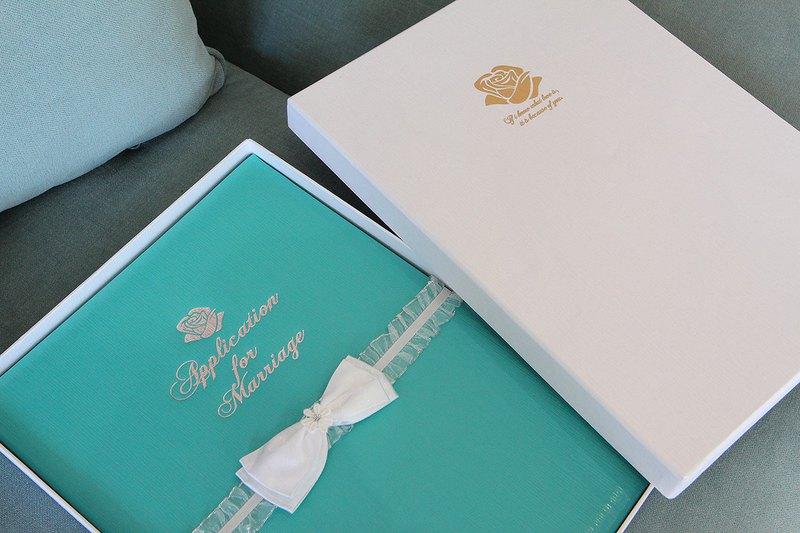 CARDIN 精緻手工結婚書約 永恆Tiffany 燙銀版 男女新人/同性伴侶