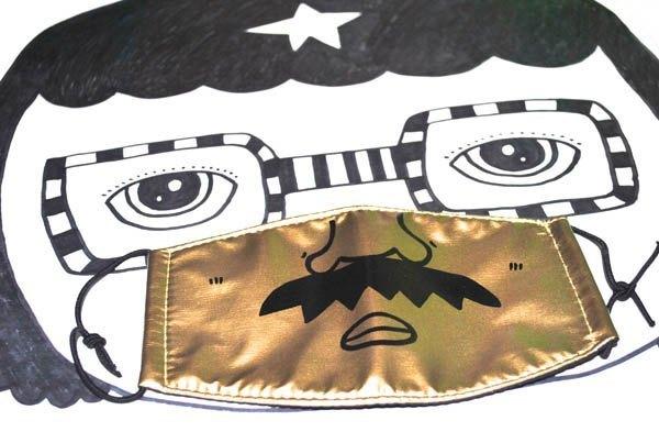 k82廢物奶泡_手繪好機車口罩_鬍子老爹