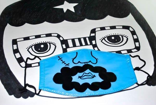 k82廢物奶泡_手繪好機車口罩_鬍鬚ㄟ_聖誕交換禮物