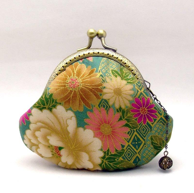 日本和風口金包 零錢包 小收納包  口金 kimono fabric (JS-74)