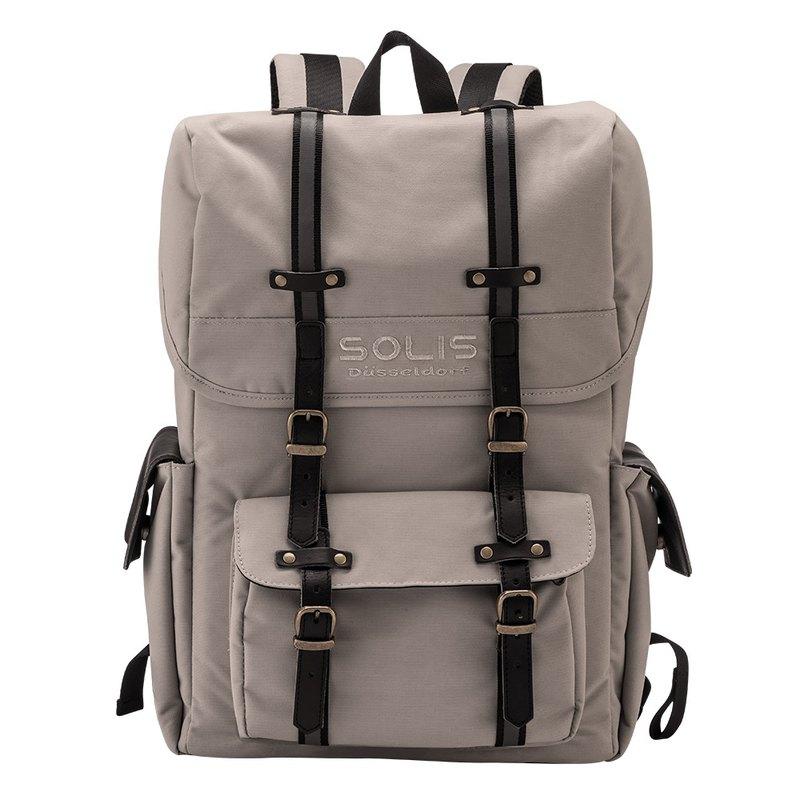SOLIS 步行者系列方型攝影電腦後背包(山羊灰)
