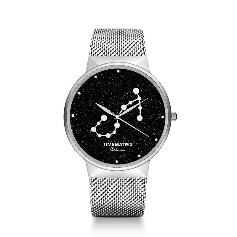 【丹麥星彩寶石】天蠍座 Time Matrix 星座創意時尚男女石英手錶
