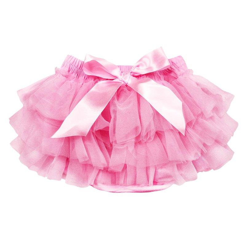 Cutie Bella 雪紡蝴蝶結蓬蓬褲裙 澎澎裙 屁屁褲 Pink